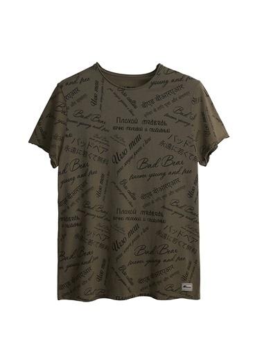 Bad Bear Bad Bear Erkak Haki Bisiklet Yaka T-Shirt Haki